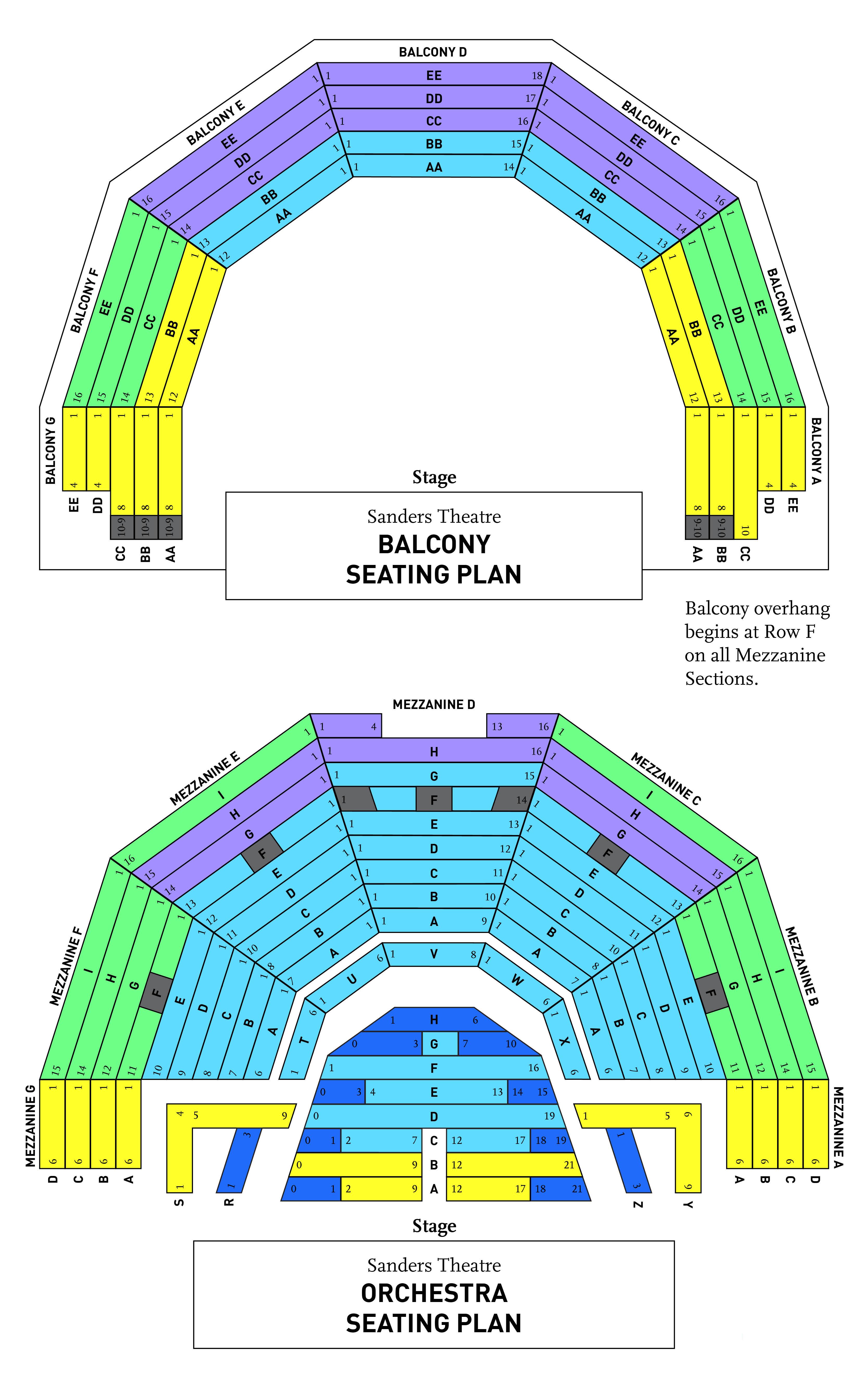 BPO Sanders Theater Seating Chart D3d