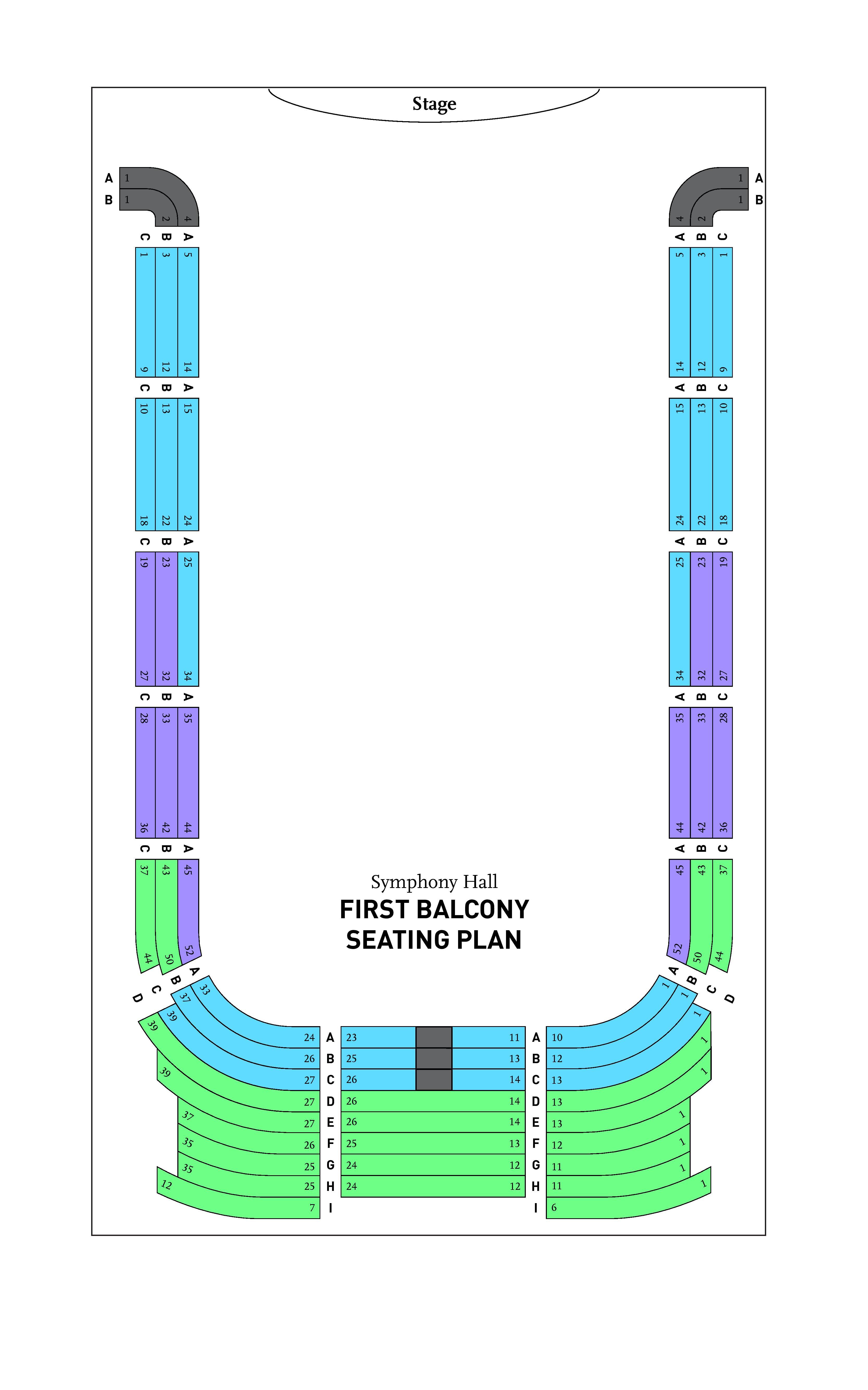 BPO Symphony Hall First Balcony Seating Chart