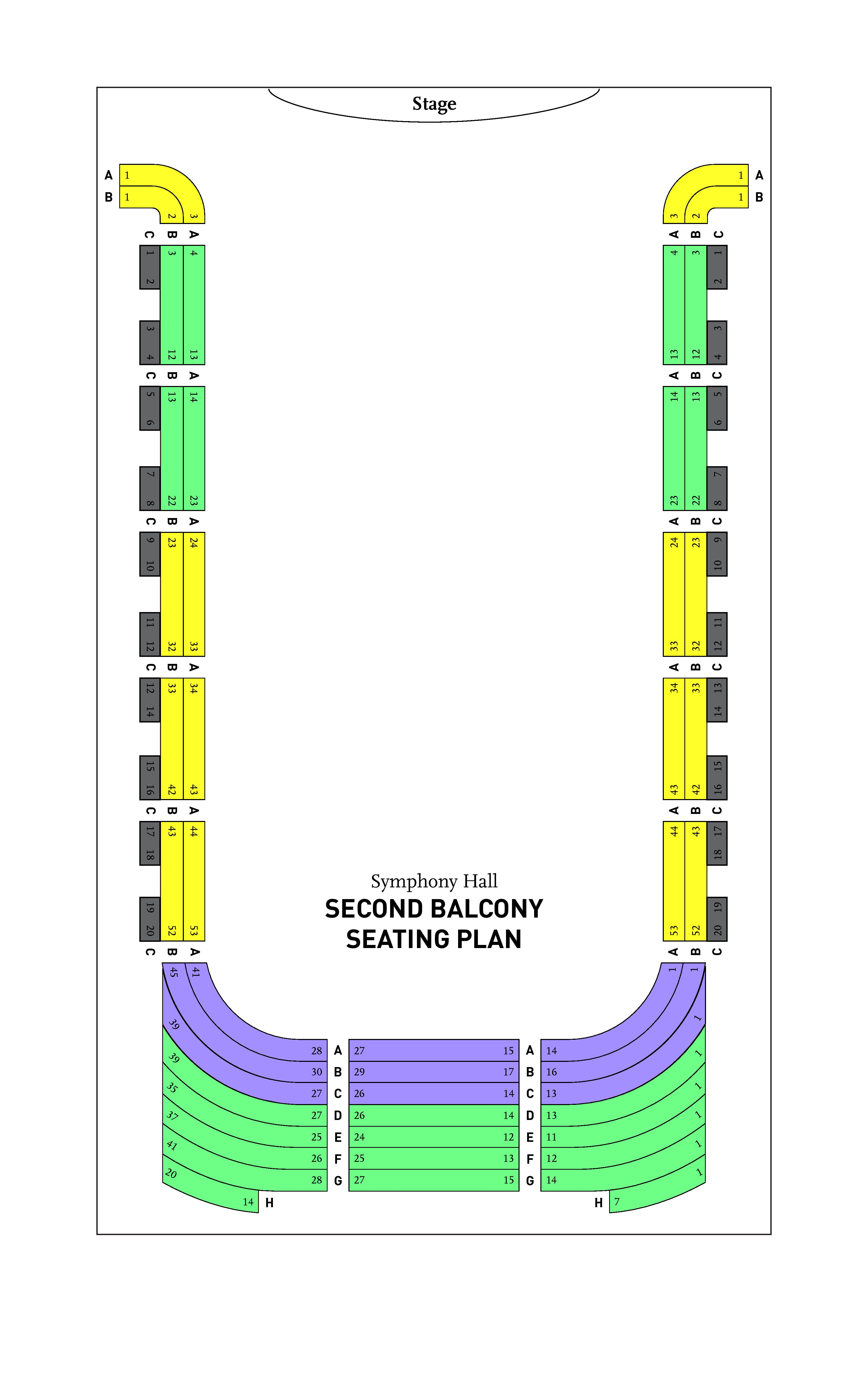 BPO Symphony Hall Second Balcony Seating Chart