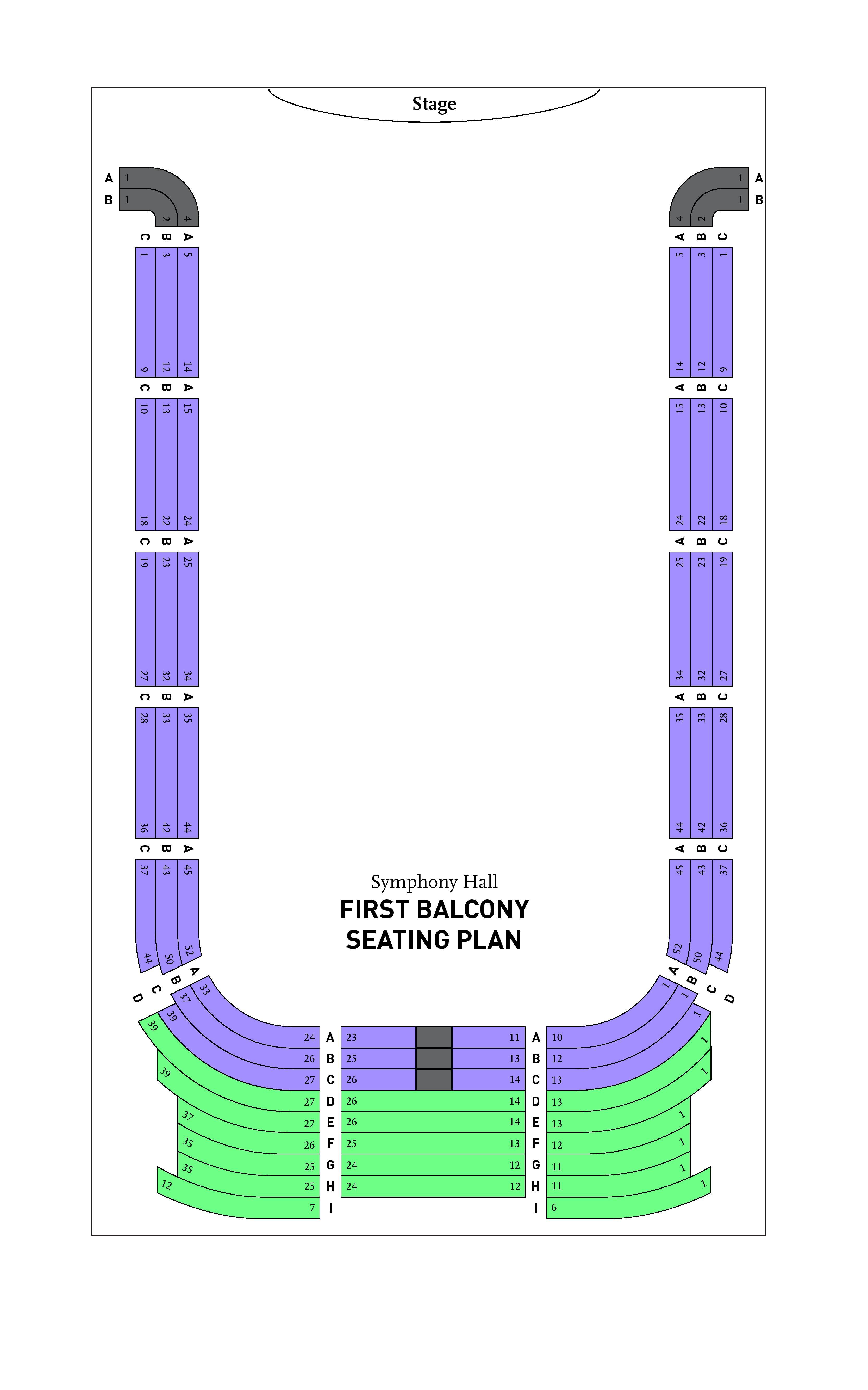 BPYO Symphony Hall First Balcony Seating Chart