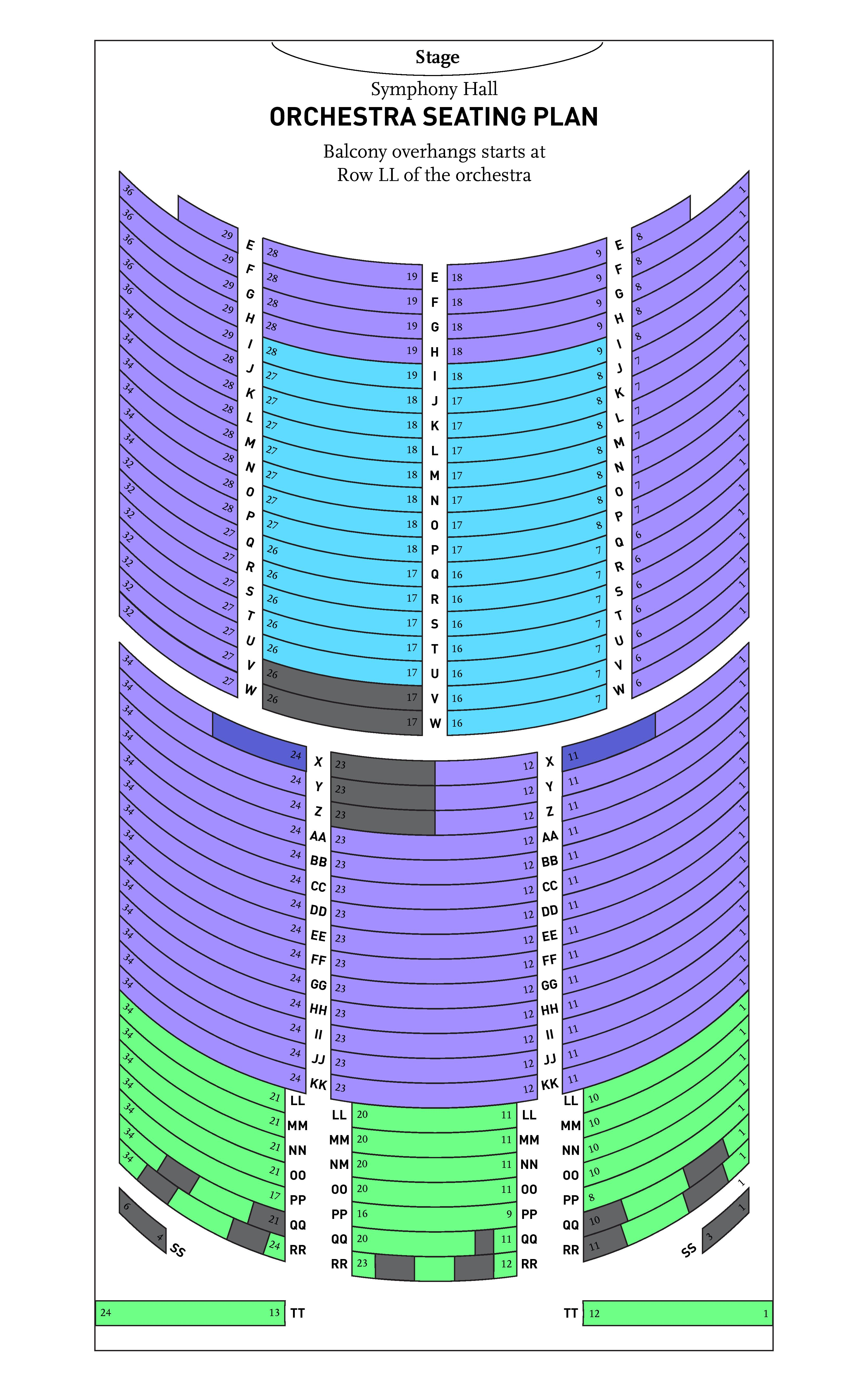 BPYO Symphony Hall Orchestra Seating Chart